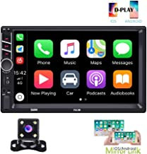 Hikity Autoradio Car Stereo Double Din 7 Inch HD Touch Screen Radio Bluetooth FM with..