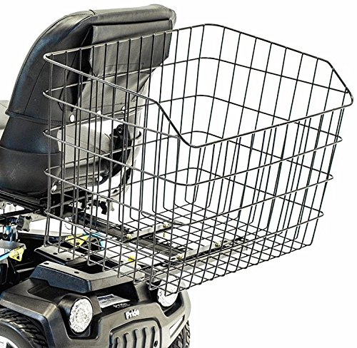 Jumbo Rear Basket XXL Size Challenger J1100 Grocery Shopping Accessory for Most Large Pride, Golden & Drive Scooter