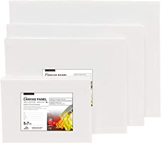 PHOENIX Artist Painting Canvas Panels Multi Pack – 6 Pack Each of 5×7,..