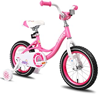 JOYSTAR 12 14 16 Inch Kids Bike with Training Wheels for 2-7 Years Old Girls 2'9 - 4'5 Tall Toddler Bike with 85% Assembled Blue Pink Purple