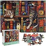 ZHENGJIANG Puzzle pour Adulte de 1000 Pièces, Jeu de Famille, Jeu de Team Building, Enfant Puzzle - Chats de Charles Wysocki (70x50cm)
