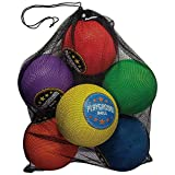 Franklin Sports Playground Balls - Rubber Kickballs and Playground Balls For Kids - Great for Dodgeball, Kickball, and Schoolyard Games  8.5 Diameter, Multicolor Pack of 6