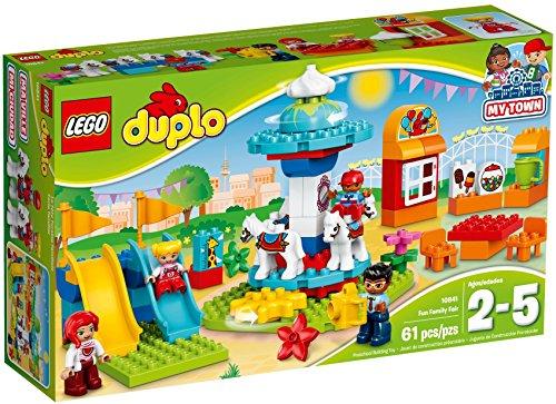 LEGO DUPLO Town Fun Family Fair Building Kit, Multicolor