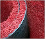 Emmevi Paillasson en coco naturel rouge antidérapant pour entrée, racle, bouffée, plus de dimensions, modèle coco sur mesure rouge 60 x 90 cm