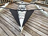 Kayak Tandem Spray Skirt Black Mesh Splash Guard for Hobie Island