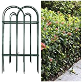 Amagabeli Decorative Garden Fence 32inx20ft Rustproof Green Iron Landscape Wire Folding Fencing...