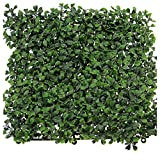 Synturfmats Artificial Boxwood Hedge Privacy Fence Screen Greenery Panels - Two Tone Green (20'x20')