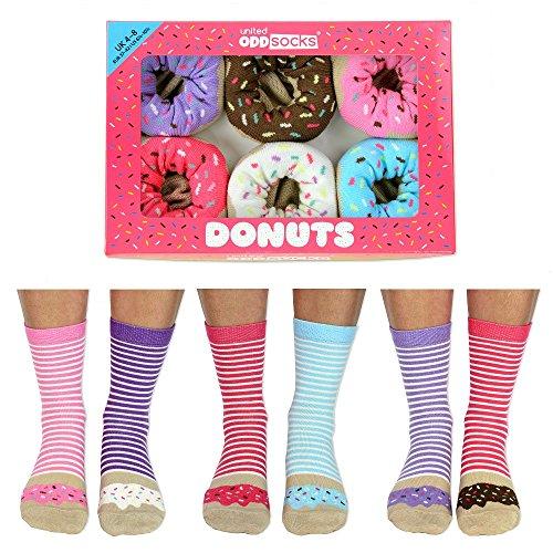 United Oddsocks Calzini Calze Donna - Ciambelle Donuts tg. 37 - 42