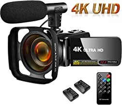 Camcorder Video Camera 4K 30MP Digital Camcorder Camera with Microphone Ultra HD Vlogging..