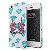 Glitbit Compatible with iPhone 5 / 5s / SE Case Stay Creepy Stay Weird Patches Embroidered Emo Goth Punk Kawaii Grunge Middle Finger Bitch Thin Design Durable Hard Shell Plastic Protective Case Cover