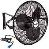 Air King 20' 1/6 HP 3-Speed Non-Oscillating Totally Enclosed Wall Mount Fan