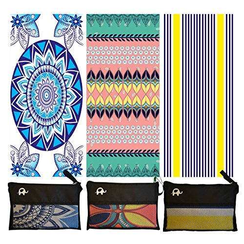 Microfiber Beach Towel for Travel - Oversized XL 78x35,72x72,63x31,71x31Inch Quick Drying, Lightweight, Fast Dry Towels, Sand Free