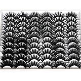30 Pairs 20MM False Eyelashes Wholesale 6 Styles Mixed Lashes 8D Fluffy Volume Dramatic Faux Mink Eyelashes Pack