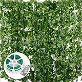 JNCH 24pcs*2m Lierre Plante Artificielle Exterieur Faux Lierre Feuillage Artificiel...