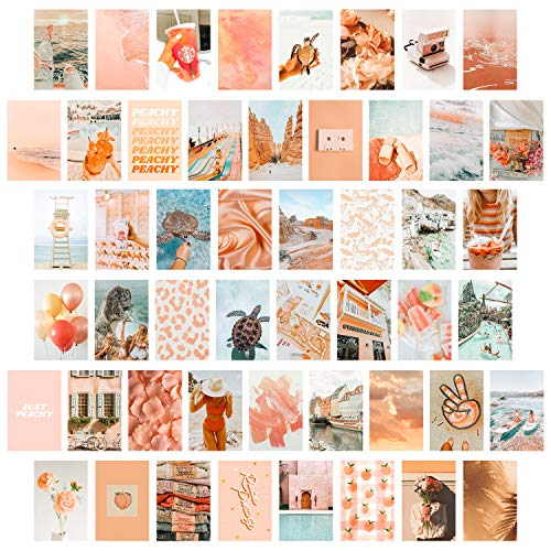CY2SIDE 50PCS Peach Beach Aesthetic Picture for Wall Collage, 50...