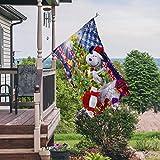 Tinesa Christmas Flag, Merry Christmas Flag, Snoopy Flag, The Peanuts Flag, Charlie Brown Flag, Snoopy and Charlie Brown Flag House Garden Flag (House Flag 29.5'x39.5')