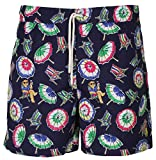 Polo RL Mens Printed Swim Umbrella Bear Boardshorts (Blue, XX-Large)