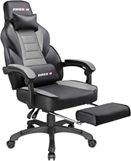 BOSSIN Gaming Chair Office Computer Desk Chair with Footrest and Headrest Racing Game..