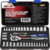40 Pieces - EPAuto 1/4-Inch & 3/8-Inch Drive Socket Set with 72 Tooth Reversible Ratchet