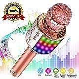 Phiraggit Microphone Karaoke Sans Fil, Micro Karaoké Bluetooth Portable avec...