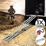 Jago Rampe de Chargement - Lot de 1 ou 2 Pièces, Pliable, en Aluminium, Charge...