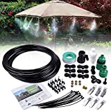 26.2FT Outdoor Mist Cooling System Fan Misting Kit Irrigation Animal Plants Swimming Pool Cooler...