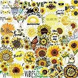 TTBH Cute Sunflower Sunshine Stickers For Planners/DIY Scrapbooking Sticker/Waterproof Adesivo Notebook For School50Pcs