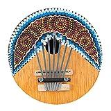 Baosity ミニ ハンドヘルド カリンバ 親指ピアノ 7キー 調整可能 ココナッツシェル パーカッション 楽器