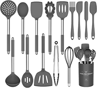 Silicone Cooking Utensil Set,Umite Chef Kitchen Utensils 15pcs Cooking Utensils Set..