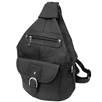 Silver Fever Genuine Leather Backpack
