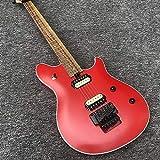 CJWSLYT Chitarra Chitarra Elettrica 6 Cordiali in Mogano di Corda con Acero Opaco Rosso Vernice Classica Chitarra Classica Chitarra elettrica (Color : Guitar, Size : 40 Inches)