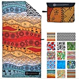 ECCOSOPHY Microfiber Beach Towel - Quick Dry Pool Towels 71x35 inches Oversized Travel Towel - Lightweight Compact Beach Accessories - Large Sand Free Micro Fiber Beach Towels (Marrakesh)