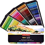 160 Colored Pencils,Artist Pencils Set for Coloring Books,Ideal for Coloring and Drawing,Shading&Sketching,Vibrant Pencils for Beginners& Pro Artists in Tin Box,Art Supplies