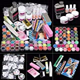 iMeshbean 42 IN 1 Nail Art Set Acrylic Nail Powder Glitter Brush All...