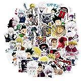 WYZNB Full time lover mano cuenta pegatinas impermeables de dibujos animados anime refrigerador móvil papelería tableta pegatinas 40pcs