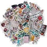 Navy Peony Lot de stickers voyage pastel et décalcomanies vacances  ...