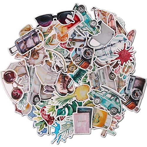 Navy Peony Lot de stickers voyage pastel et décalcomanies vacances |...