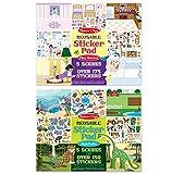Melissa & Doug Reusable Sticker Pad Bundle - Play House and Habitats