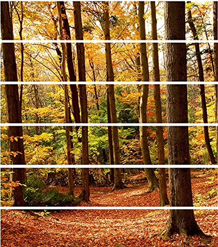 ChezMax 3D 6PCS Autumn Forest Stair Sticker Fashion Home Self-Adhesive...