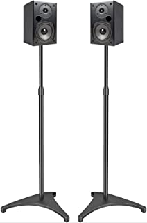 PERLESMITH Speaker Stands Extend 30-45 Inch with Upgraded Cable Management, Hold..