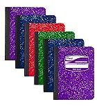 Mead - Cuaderno de composición con rayas anchas, 100 hojas, el color puede variar, paquete de 6