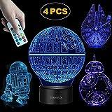Terrosol 3D Star Wars Lamp - Star Wars Gifts - 4 Pattern&1 Base&1 Remote -...