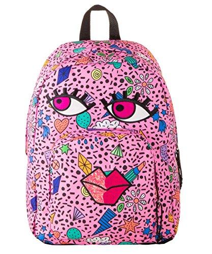 invicta- Zaino Ollie Face Fantasy Pink, Colore Rosa, 206001855-434