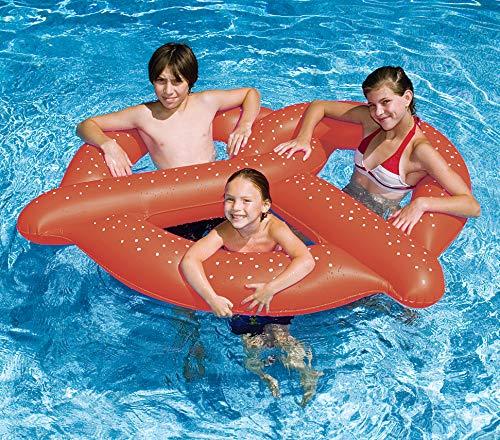 Swimline Giant Pretzel Swim Fun Inflatable Floating Seat, 1-Pack