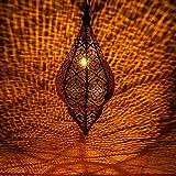 Lámpara Oriental Marroquí - lamparilla colgante - farola de techo Kihana negro 40cm - muy práctica para una iluminación excelente - transmite una decoración excelente refinada
