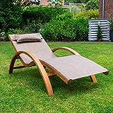 Ampel 24 Relax Liegestuhl Tropica Relaxliege mit Armlehnen Gartenmöbel aus vorbehandeltes Holz - 2