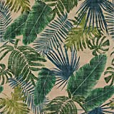 McAlister Textiles Palm Fabric | Forest Green Flower Pattern Curtain Fabric Upholstery Material Quilting Fabric for Upholstery and Home Dcor | Fabric Swatch 3x7 Inches