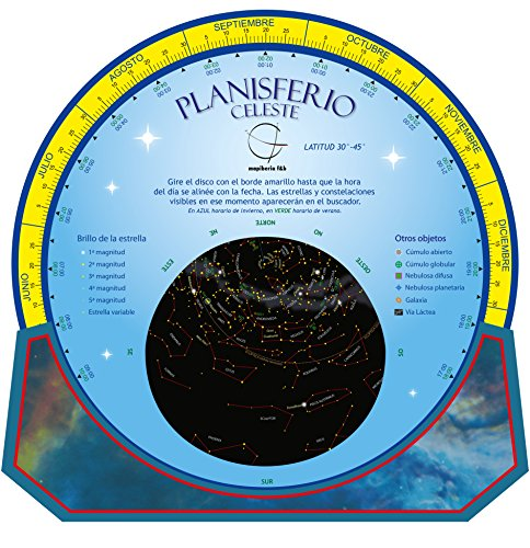 Planisferio celeste. Dos caras. Reversible. Castellano. Editorial Mapiberia & Global Mapping.