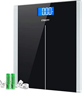 Etekcity Digital Body Weight Bathroom Scale With Step-On Technology, 400 Lb, Body Tape..