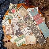 BLOUR Pegatinas de Nota de página de Libro Antiguo de Gran tamaño Ⅰ DIY Scrapbooking Junk Journal Base Collage teléfono móvil Pegatinas de decoración de computadora